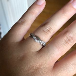 White Gold Diamond Infinity Ring!